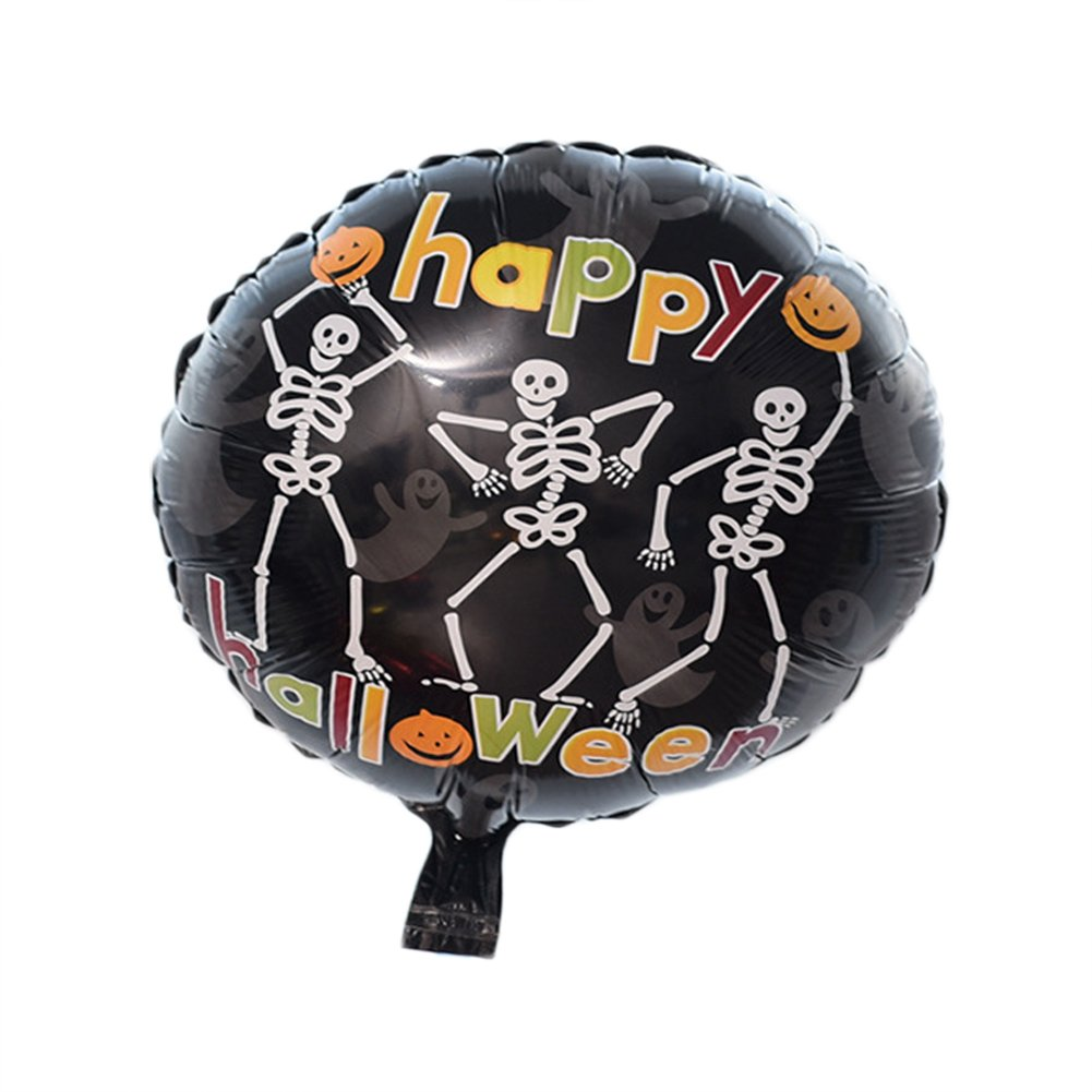 Home-organizer Tech Halloween Birthday Holidays Wedding Party Decorations Supplies Kids Toy Helium Foil Balloons (Skull Dance)