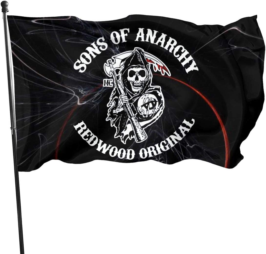 Fangpeilian Sons of Anarchy Flag Garden Flags Party Banner 3x5 Ft