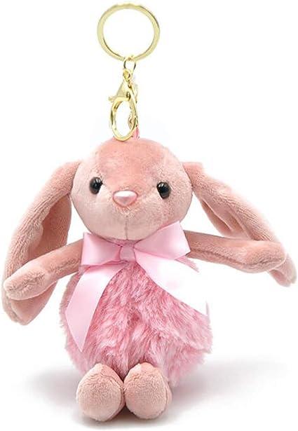 Bang Bang and Pansy Jump Rabbit Cute Animal Key Ring Key Chains Doll 6.7 x 8 cm.