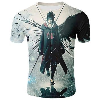Yuxua Naruto Sasuke Ninja T Shirt Hombres 3D Cartoon Anime T ...