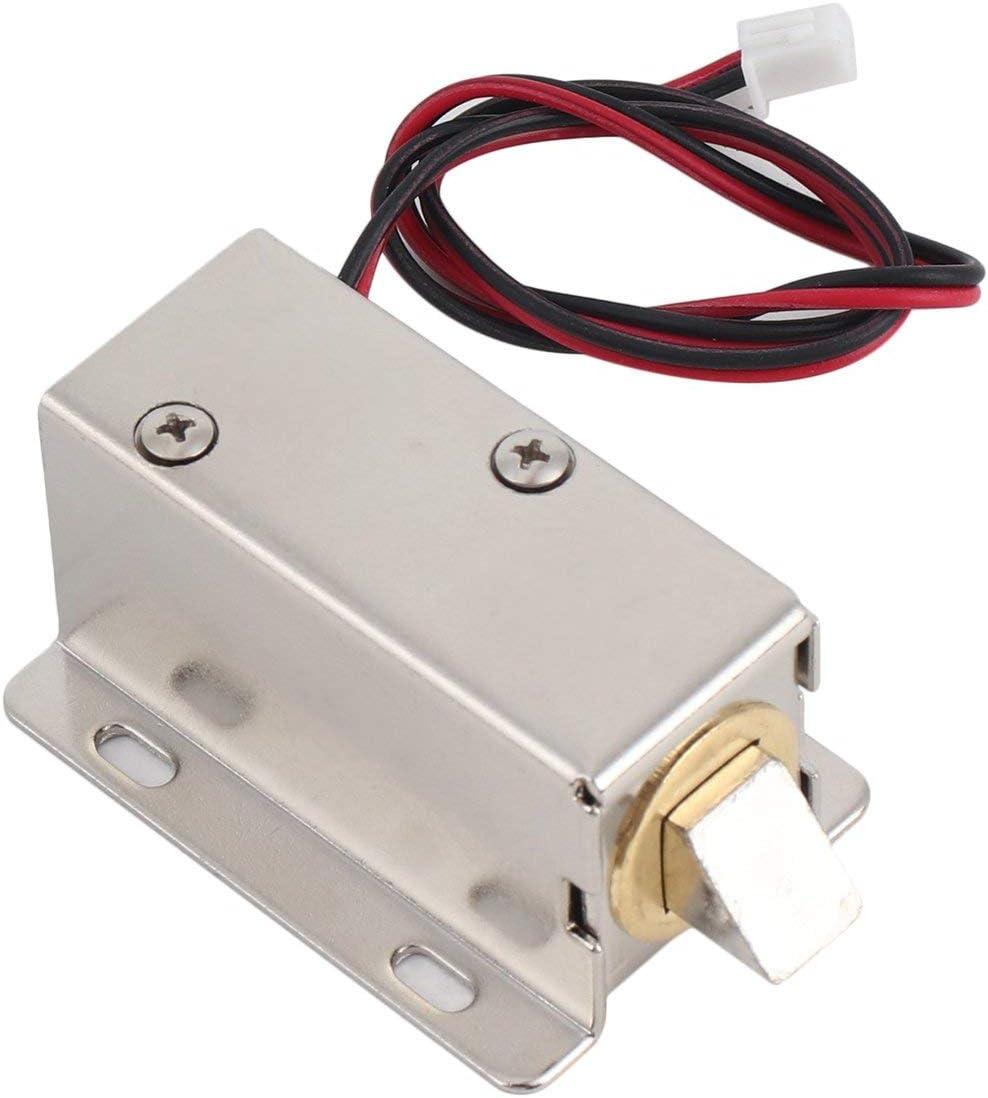 Solenoide profesional de marco abierto de CC 12V peque/ño para cerradura de puerta el/éctrica con baja estabilidad de consumo de energ/ía color: plateado