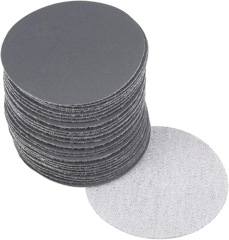 uxcell 2 Inch Wet Dry Sanding Discs 60 Grit Hook and Loop Sanding Disc Silicon Carbide Sandpaper 30pcs