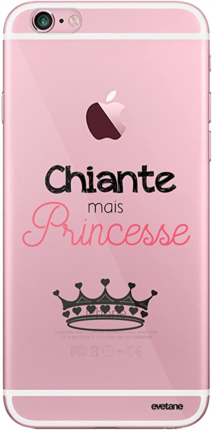 Evetane Coque Compatible avec iPhone 6/6S Transparente Rigide Solide Chiante mais Princesse Ecriture Motif Tendance.