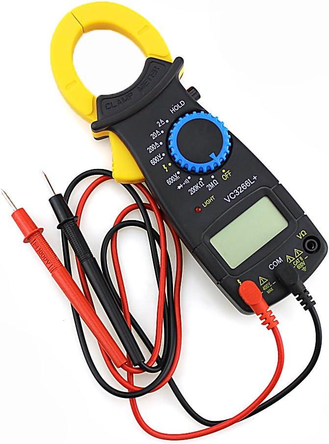Digitales Messger/ät f/ür Spannung und Amp//Ohm mit Klemme elektronisch