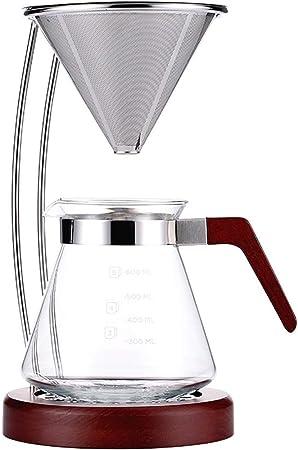 Juego de ollas de café de mano V60 filtro de goteo de acero ...