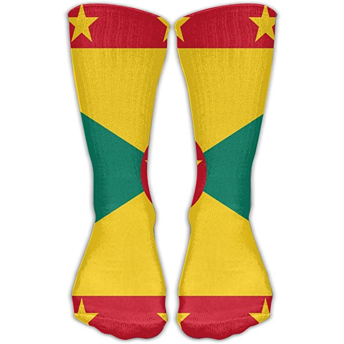 Amazon.com: Bandera de Granada Unisex calcetines de fútbol ...