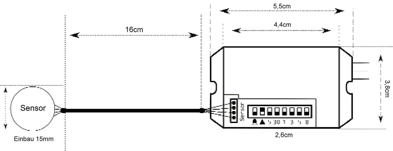 rasante Mini empotrable IR Detector de movimiento 360 ° 12 V - adecuado para LED - Carga mínima solo 1 W: Amazon.es: Bricolaje y herramientas