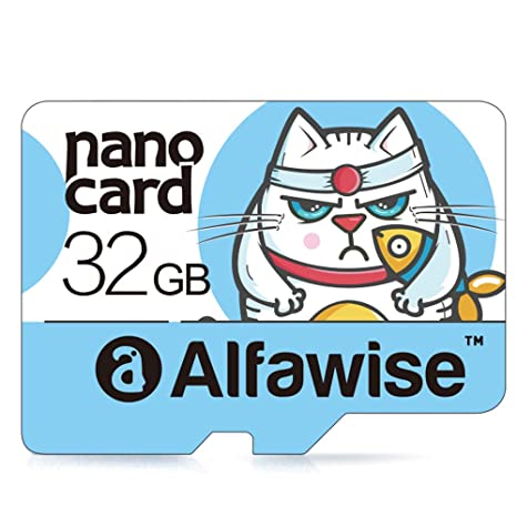 Alfawise A32 - Tarjeta de memoria 32GB,Micro SD Clase 10 UHS-1 Tarjeta de memoria Transferencia de datos súper rápida de alta velocidad lectura 80MB / ...