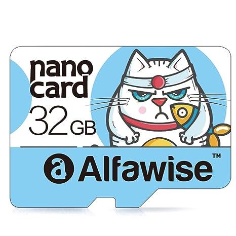 Alfawise A32 - Tarjetas microSD 32GB,Tarjeta de Memoria,Micro SD Clase 10 UHS-1 Tarjeta de Memoria Transferencia de Datos súper rápida de Alta ...