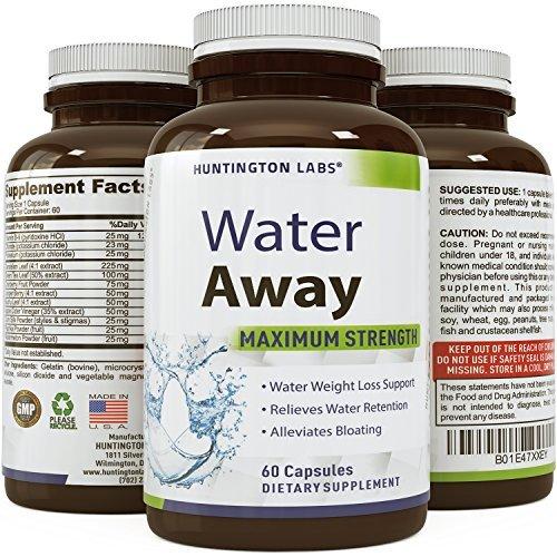 Natural Diuretic Water Away Pills Vitamin B6 Potassium & Dandelion Root Extract Water Retention Anti-Bloating and Swelling Capsules Weight Loss for Women & Men with Antioxidant Green Tea by Bio Sense by Bio Sense