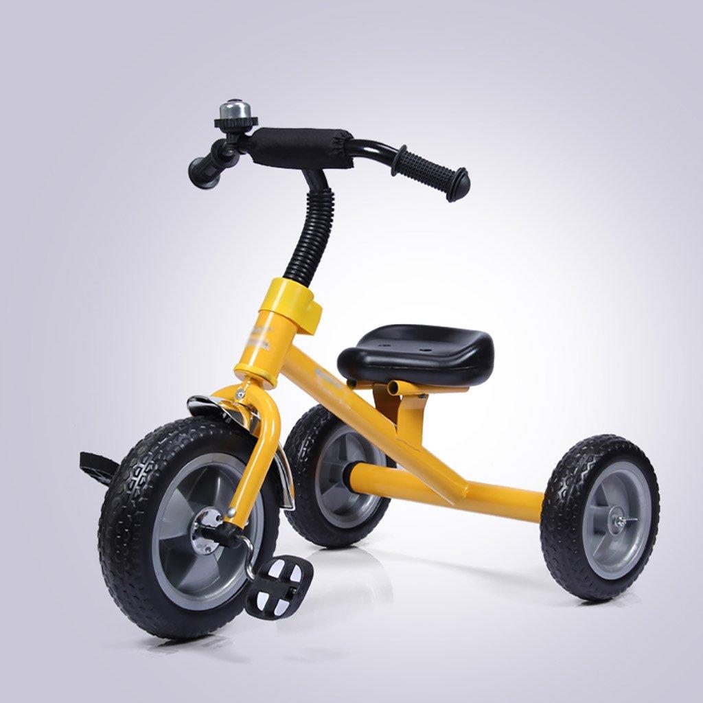 子供用トライク、三輪車の乗り物バイク、赤ちゃんの滑り自転車、おもちゃの自転車、自転車の子供、フットペダルの3つの車輪 (色 : イエロー いえろ゜) B07DVKHXQV イエロー いえろ゜ イエロー いえろ゜