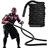 "Yaheetech 2"" 40FT Polyester Battle Rope Exercise Workout Strength Training Undulation Heavy Exercise Rope"