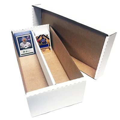 (6) Shoe 2 Row Storage Box (1600 Ct.) - Corrugated Cardboard Storage Box - Baseball, Football, Basketball, Hockey, Nascar, Sportscards, Gaming & Trading Cards Collecting Supplies by MAX PRO: Sports & Outdoors