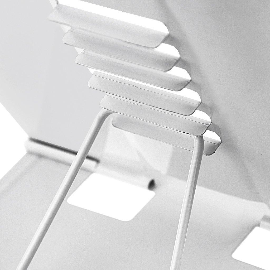 libro de recetas con color elegante blanco y negro Soporte de lectura posici/ón de lectura atril de metal en formato de piano pupitre plegable para leer color blanco soporte para tableta o iPad