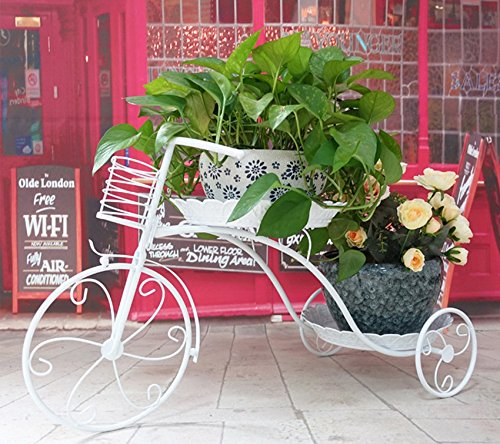 European balcony flower rack / iron multi-storey living room flower stand / floor style flower rack ( Size : 692639cm ) by Flower racks - xin