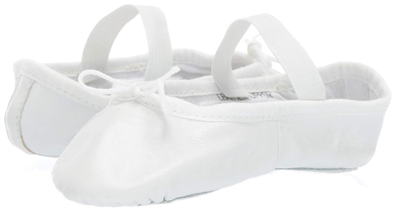 Leo Girls Ballet Russe Dance Shoe White 12.5 D US Little Kid