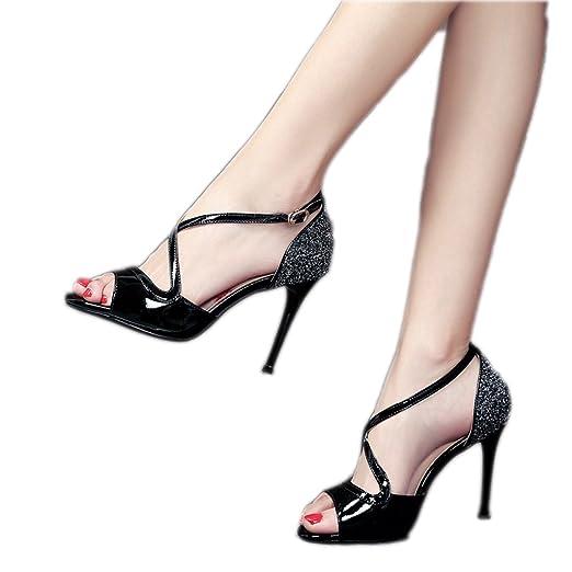 Helen – Zapatillas de pendientes de pecho tacón mujeres verano ...
