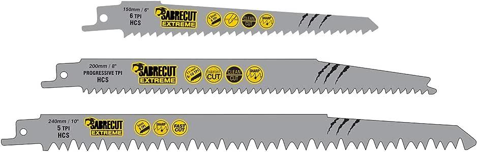 SabreCut SCRSKW3 - Juego de 3 hojas de sierra de sable para Bosch Dewalt Makita y muchos otros modelos (S644D S1531L S2345X, corte rápido de madera): Amazon.es: Bricolaje y herramientas