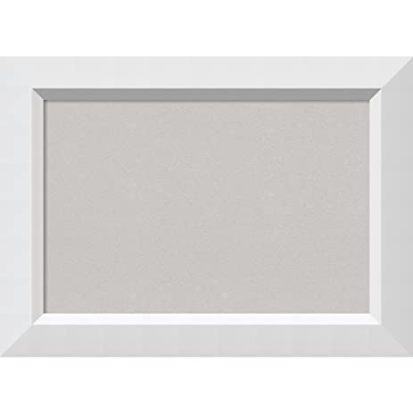 Amazon.com: Amanti Art Framed Grey Cork Board Blanco White: Outer ...