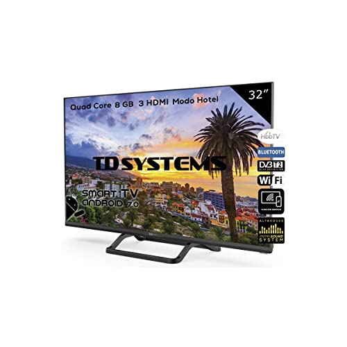 Televisores Smart TV 32 Pulgadas Led HD WiFi 3X HDMI HbbTV 2 0 1 TDT HD TD Systems K32DLX9HS