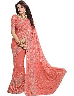 Craftsvilla Chiffon Saree With Blouse Piece Mcraf78906166300