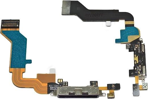 Ilovemyphone Cable Flex Conector Dock Carga y Datos + Microfono para iPhone 4S Negro