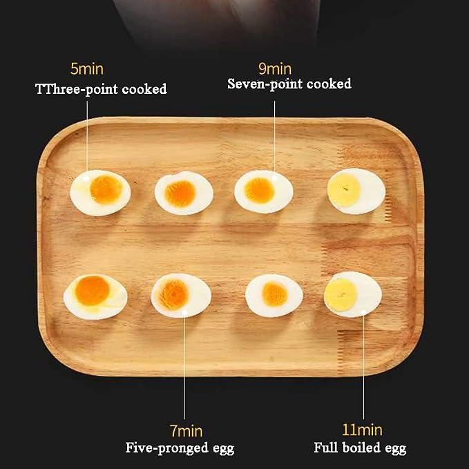 Caldera del huevo, yema del huevo del control inteligente eléctrico del acero inoxidable Poder automático suave y duro para la máquina cocida al vapor hogar ...