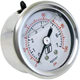 Turbosmart TS-0402-2023 0-100 PSI (0-7 Bar) 1/8 NPT Fitting Liquid Filled Fuel Pressure Regulator Gauge