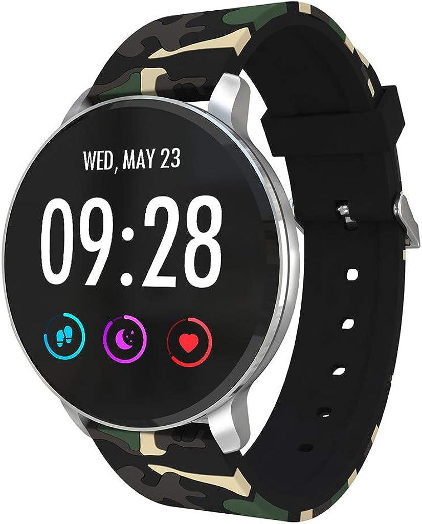DAYLIN Reloj Pulsera Actividad Inteligente Hombre Mujer Negro Reloj Deportivo GPS Música Impermeable Smartwatch Fitness Tracker Monitor de Ritmo Cardíaco Sueño Podómetro Bluetooth para Android iOS