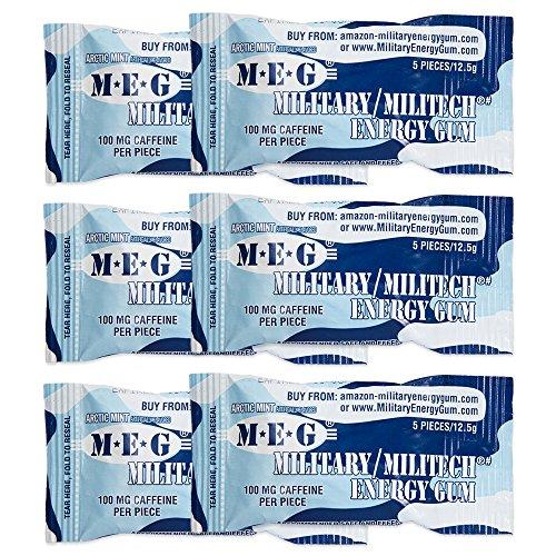 Meg Military Energy Gum 100mg Of Caffeine Per Piece