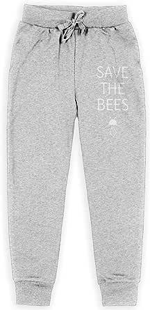 Yuanmeiju Save The Bees Boys Pantalones Deportivos,Pantalones Deportivos for Teens Boys Girls