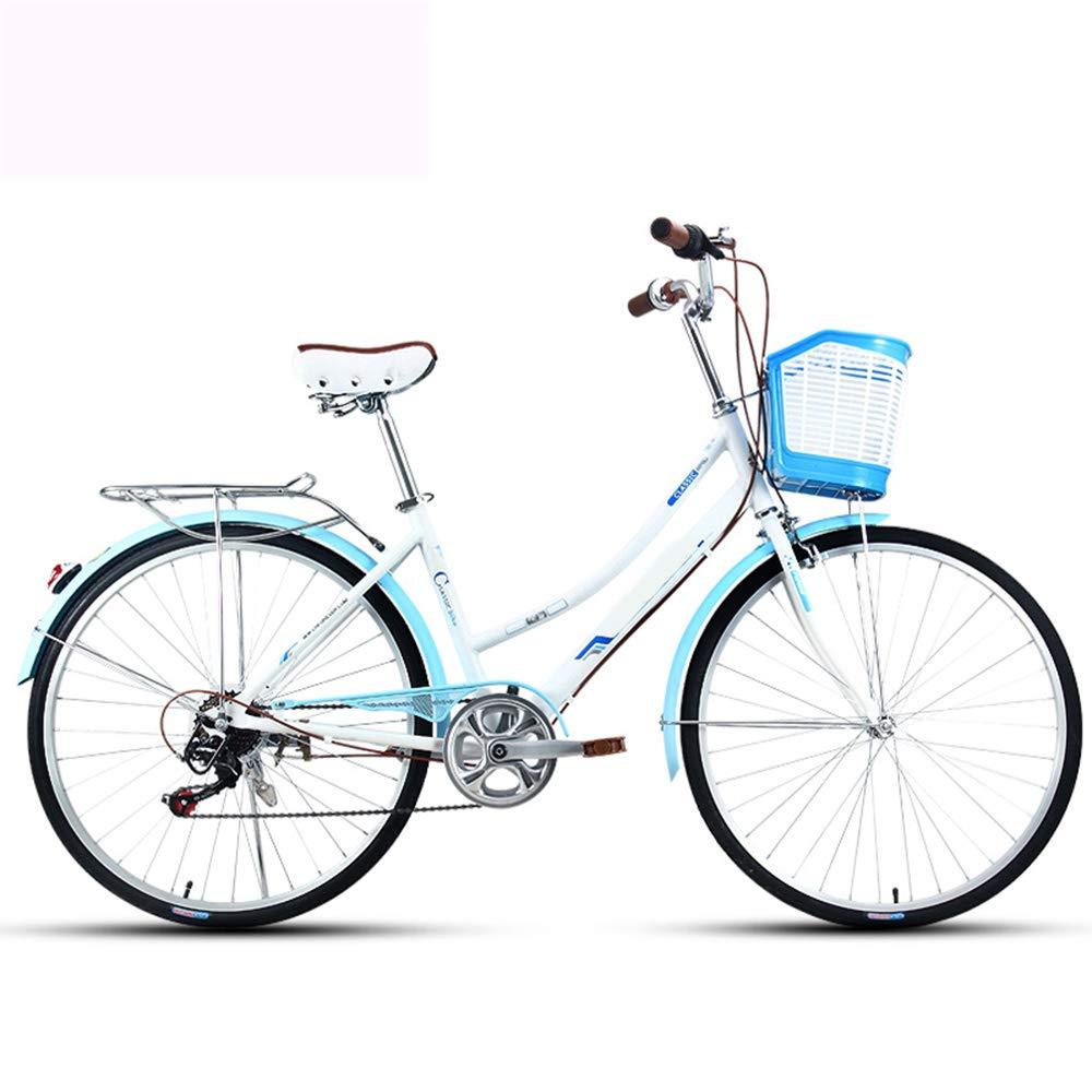 自転車、シティーバイク、26インチアルミニウム合金、アルミニウム合金二層カーサークル、電気メッキ後部フレーム、滑り止めタイヤ、ギフト自転車のターンシグナル B07JDNSXQD