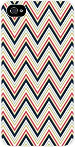 Tight Chevrons- Case for the Apple Iphone 5-5s Universal- Hard White Plastic