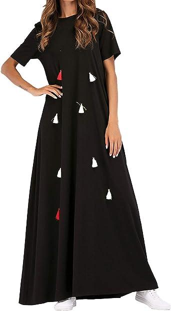 Abaya Dubai Tunica Algodon Maxi - Vestido Largo Arabe Mujer ...