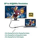 USBCele USB-C to Mini DisplayPort Adapter, USB Type C (Thunderbolt 3) to Mini DP 4K Cable Adapter for MacBook Pro, iMac/iMac Pro, LED Cinema Display and More [Advanced