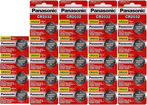 24 Panasonic CR2032 Batteries Lithium cr-2032 3V Coin Cell 4 Packs of 6 Batteries - Exp. Date 2022