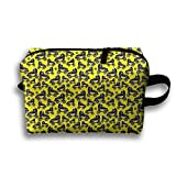 With Wristlet Cosmetic Bags Cool Roller-skating Shoes Brush Pouch Portable Makeup Bag Zipper Wallet Hangbag Carry Case