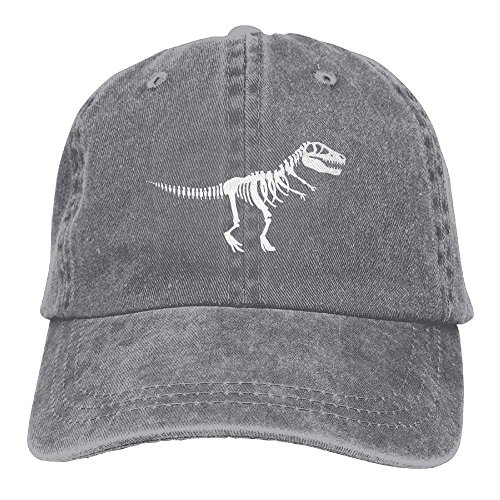 NVJUI JUFOPL Dinosaur T Rex Skeleton Dinosaur Adult Cowboy Hat Demin Jeans Caps Ash