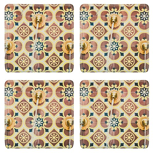 Luxlady Square Coaster Fountain morocco style vintage filter IMAGE 37965122 Customized Art Home Kitchen