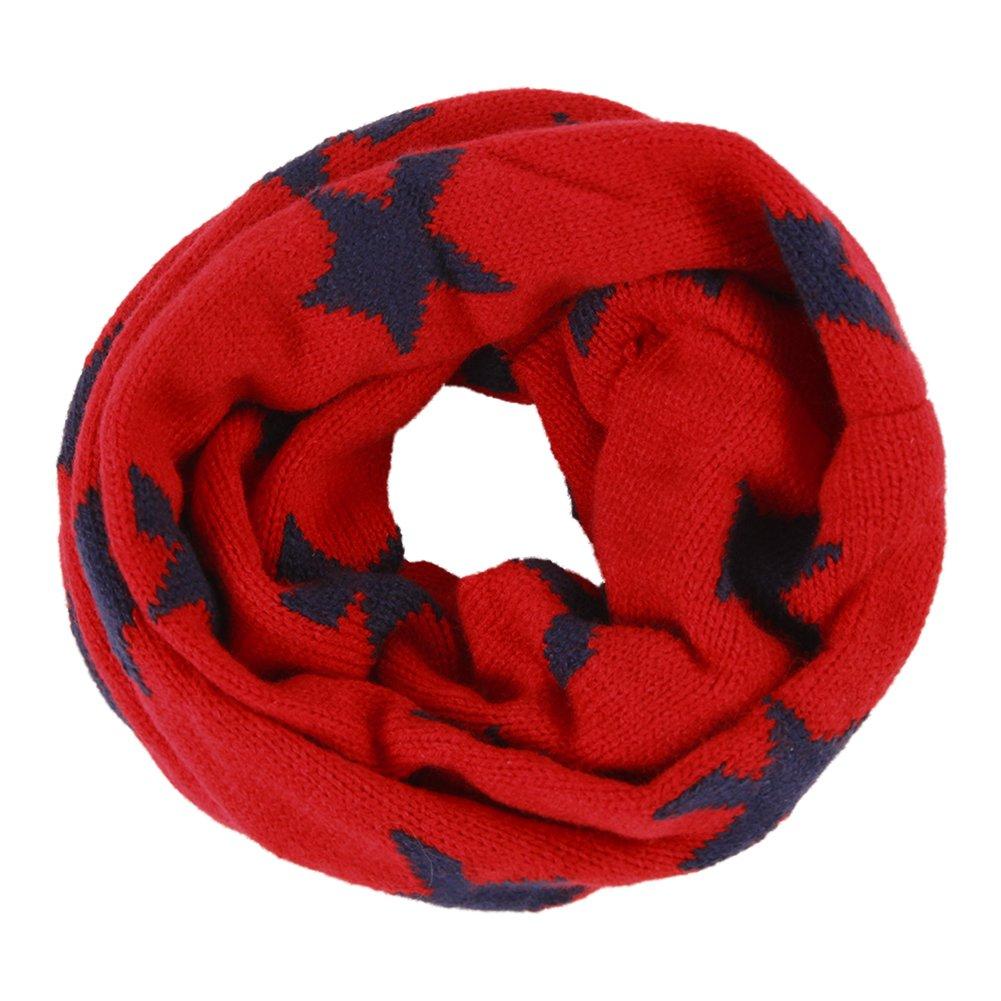 CHIC-CHIC Kids Girls Boys Winter Warm Soft Knitted Neck Warmer Star Scarf Shawl EM4510