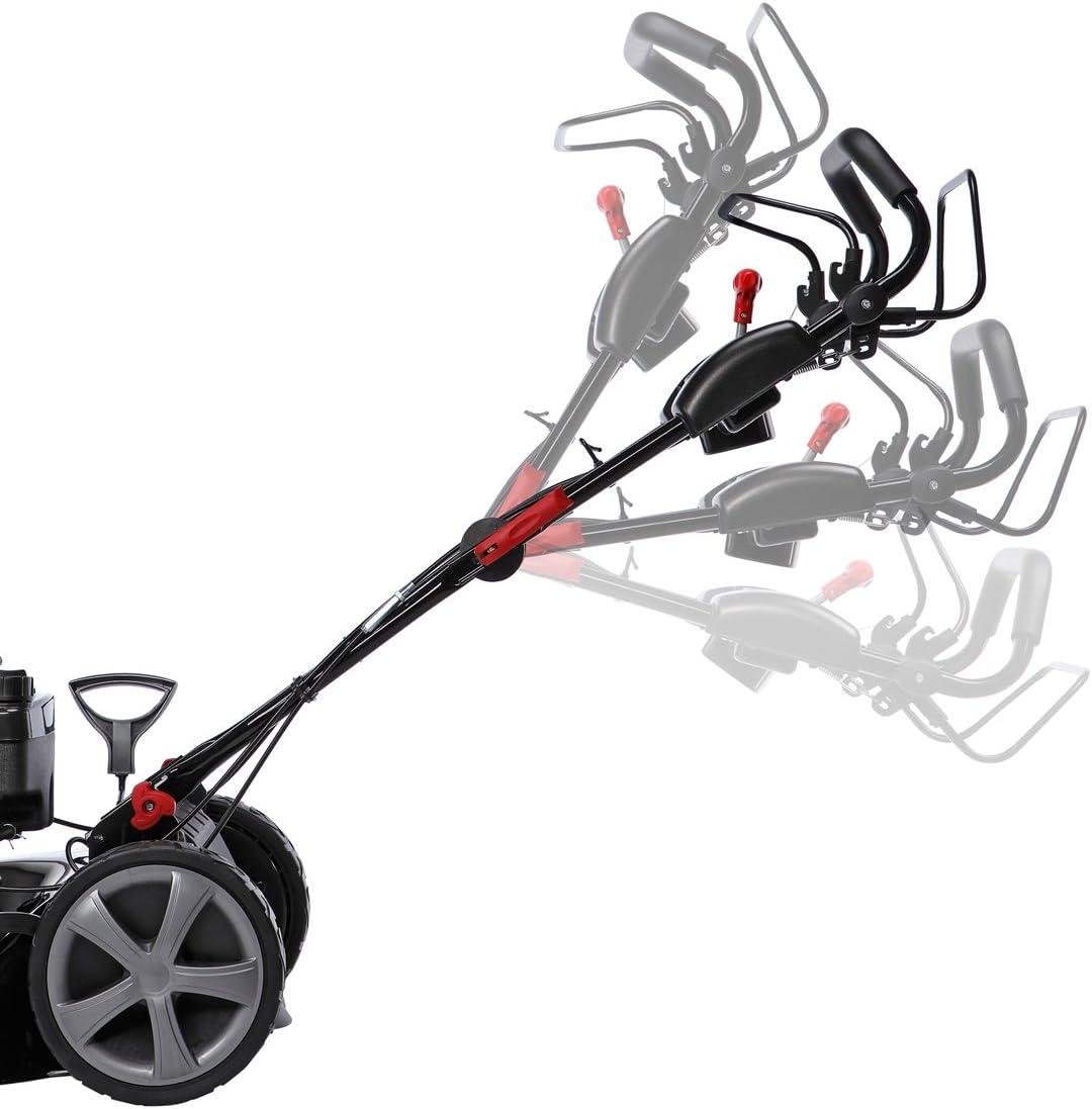 BRAST tondeuse thermique 3 roues TRIKE 196cc 6 CV 53 cm autotract/ée vitesse dentra/înement triple r/églable r/églage central capot en t/ôle en acier 60 l 4 en 1 a essence