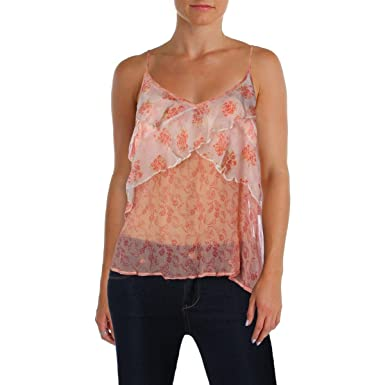 3d41a21d07f Free People Womens Crinkled Sheer Tank Top at Amazon Women's Clothing store: