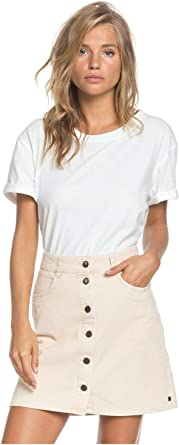 Roxy Erjwk03069 Falda de Pana con botón de otoño inolvidable para ...