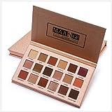 MAANGE 18 colores Paletas de Sombras Ojos de Color Mate y Perla Paletas de Maquillaje Profesional Tono Naranja y Tierra