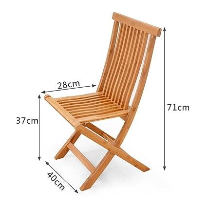 Amazon.com: Barstools LHA Bamboo Folding Chair Dining Chair ...