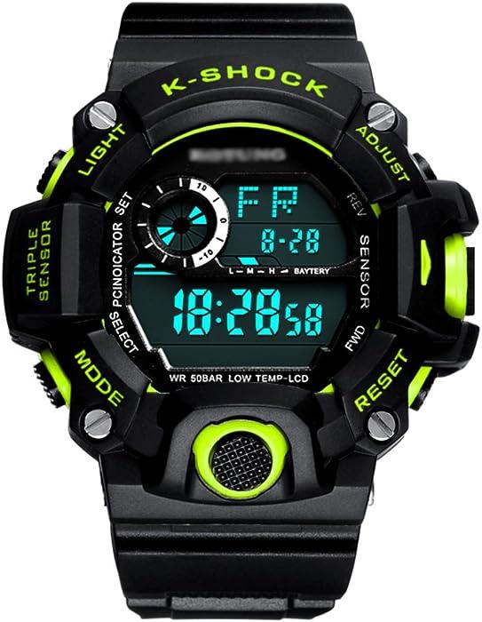 Reloj De Pulsera, Estudiante Impermeable Deportes Reloj Digital, Adolescente Ejecutando Digital Chico Múltiples Funciones Reloj De Men