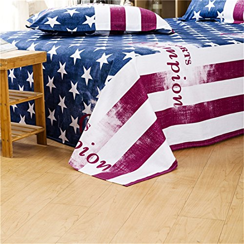 Bedream 4 Pieces Duvet Cover Bedding Set Sport Fans