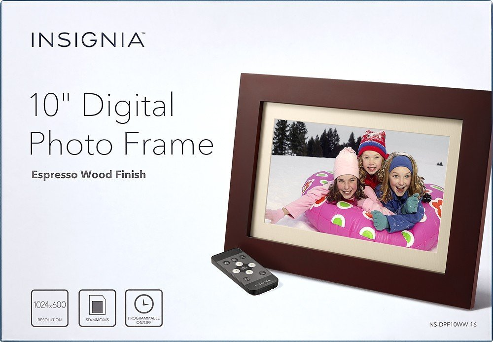 amazoncom insignia 10 digital photo frame espresso electronics