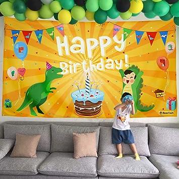 Amazon.com: Pancarta de dinosaurio multifuncional, fondo de ...