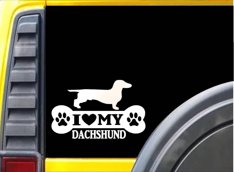 Dachshund Breed Dog Car Bumper Sticker Decal 5/'/' 6/'/' or 8/'/' 3/'/'
